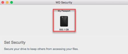 Setting up and using WD Security and WD Drive Utilities