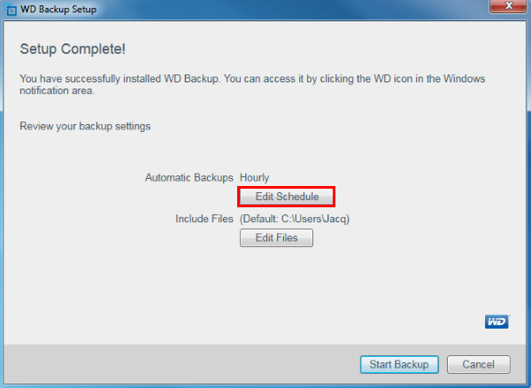 How To Backup Files Using WD Backup