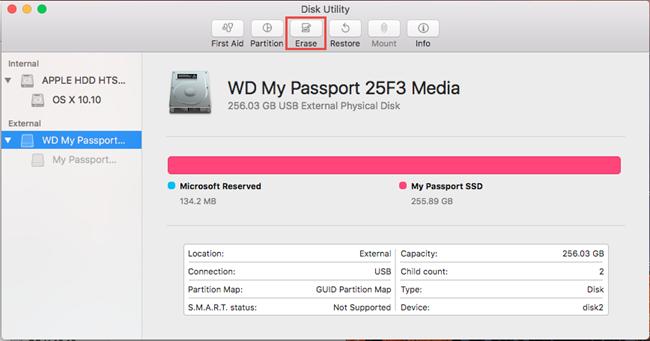 format wd external hard drive mac