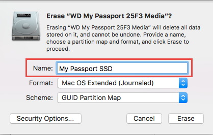 wd my passport external hard drive format for mac