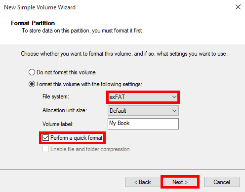 How to format a WD hard drive to exFAT or FAT32 file system