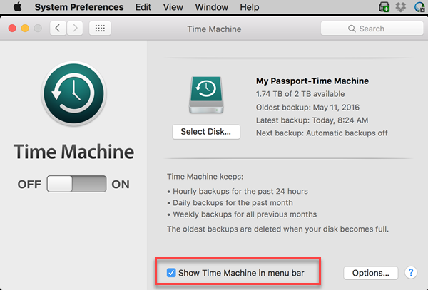 Starting macOS Time Machine Backups to My Cloud and Network