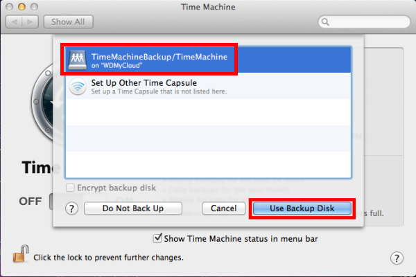 how to setup a network drive for time machine