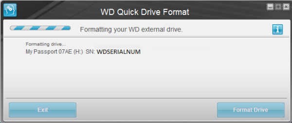 How to format external drives using WD Quick Formatter in