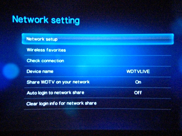 How to configure the Network Settings on the WD TV Live HD Media Player