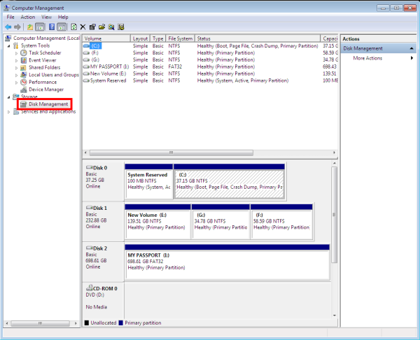 how to format hard drive with system reserved