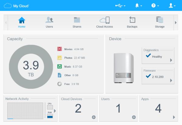 Zugreifen Auf Das Dashboard Eines My Cloud Speichergeräts Wd Support