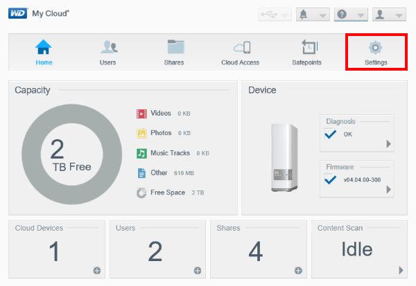 How to perform a quick or a full test on a My Cloud device | WD Support