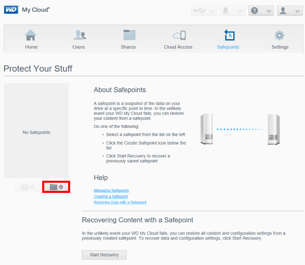 how to create a safepoint backup of a my cloud wd support
