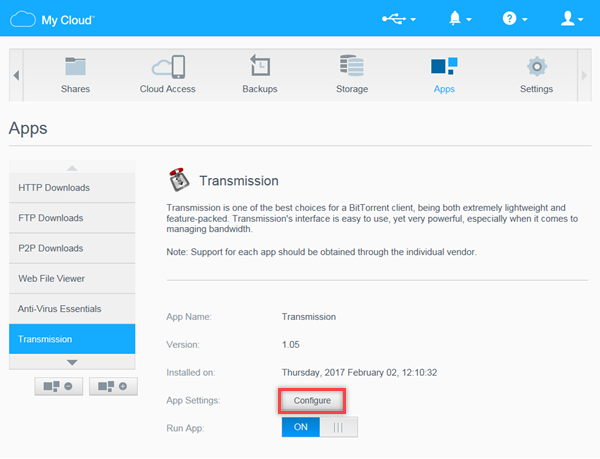 Torrent download wd my cloud | How to install the 'Transmission' App