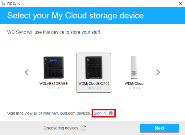 Konfiguration Von Wd Sync Mit Einem My Cloud Speichergerät Wd Support