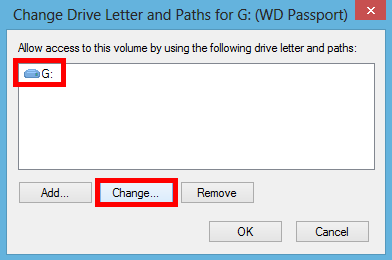 How to change the drive letter assignment in Windows