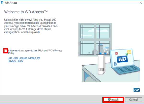 how to install wd access wd support