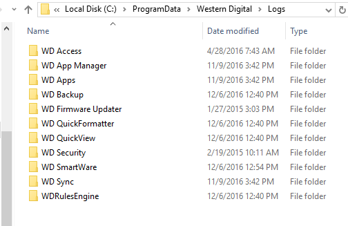 How to collect WD Software Logs