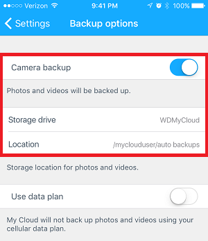 Using My Cloud Mobile App Auto Backup Feature on iOS