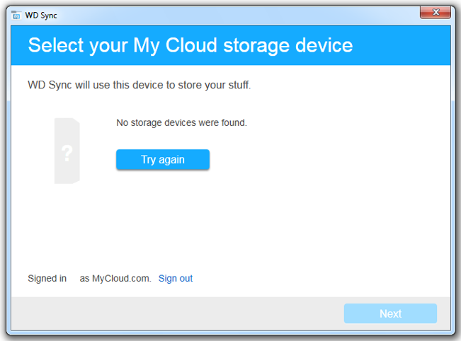 wd sync no storage devices found or my cloud not seen wd rh support wdc com Owner's Manual User Manual PDF
