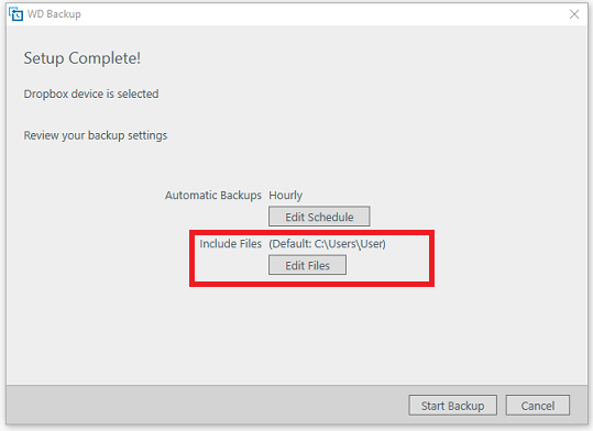 WD Backup Fails to Backup the UPPS bin file