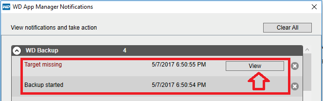 No Target Found or Drive Offline in WD Backup