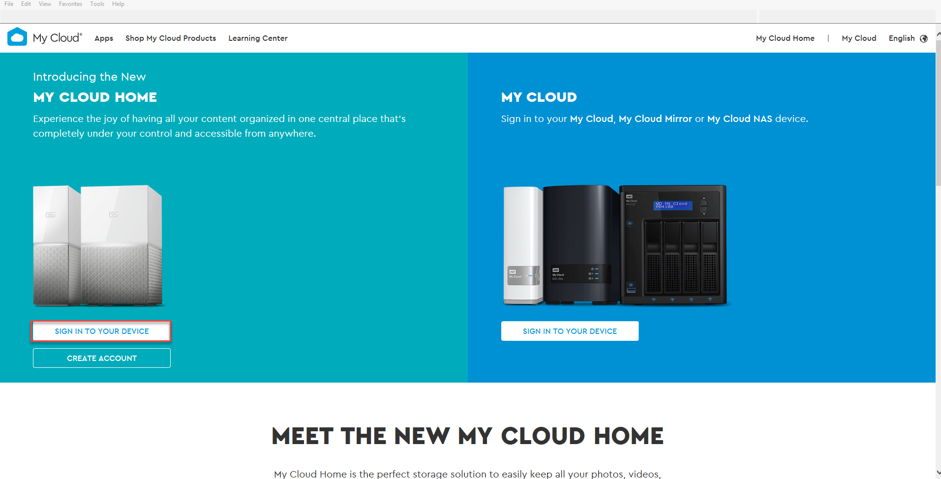 How to access a My Cloud device through MyCloud com