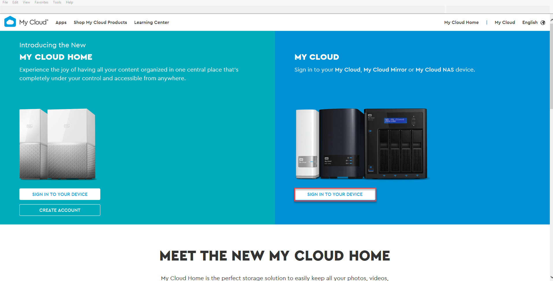 How to access a My Cloud device through MyCloud com
