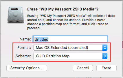 how to partition wd my passport for mac and pc