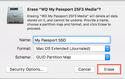 my passport essential mac formatting