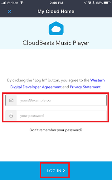 How to Use CloudBeats App with a My Cloud Home