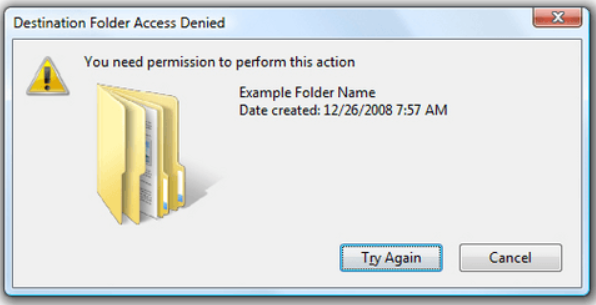 My Cloud Home Data Transfer Error - Destination Folder Access Denied