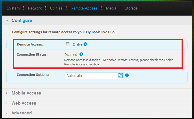 How To Disable Remote Access to a My Book Live or Duo