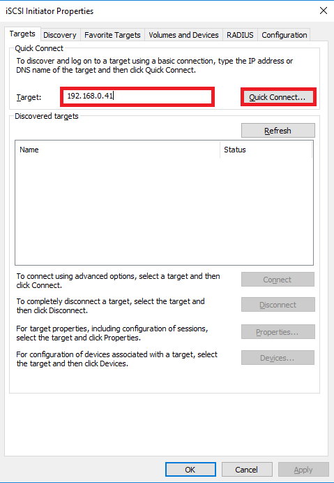 Creating and Mounting an iSCSI Target on a My Cloud Device