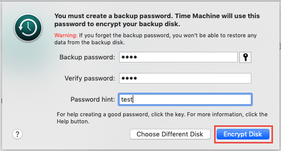 How to Encrypt a Time Machine Backup