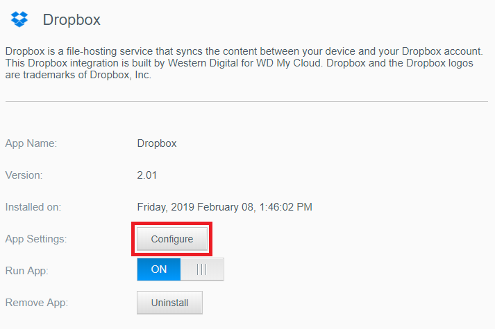 How to Install and Use Dropbox App on a My Cloud
