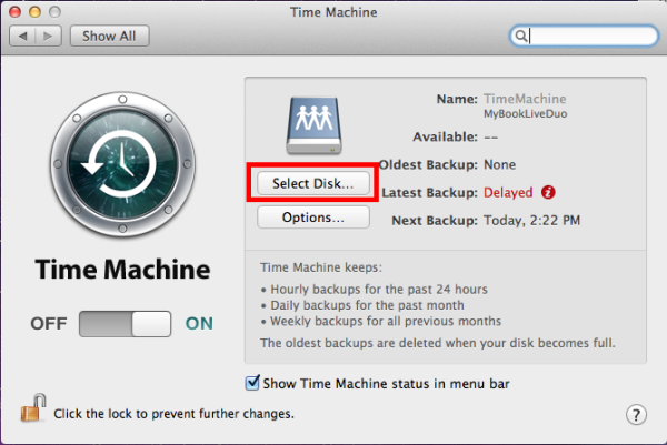 time machine network attached storage