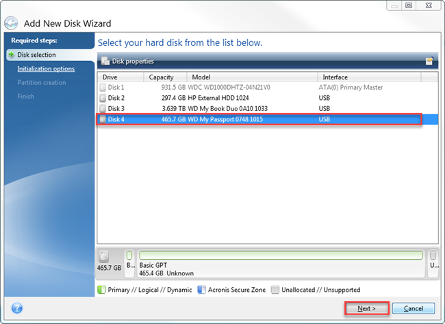 Partitioning And Formating A Wd Drive Using Acronis True