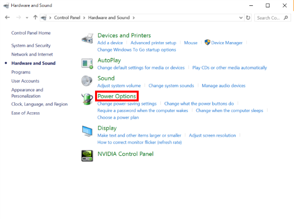 How to disable power management settings in Windows