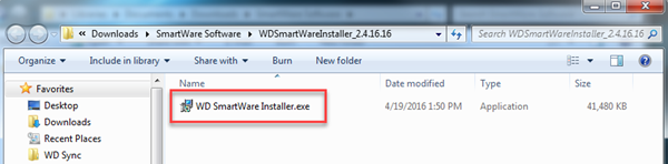 WD SES driver download and instructions for recovering the