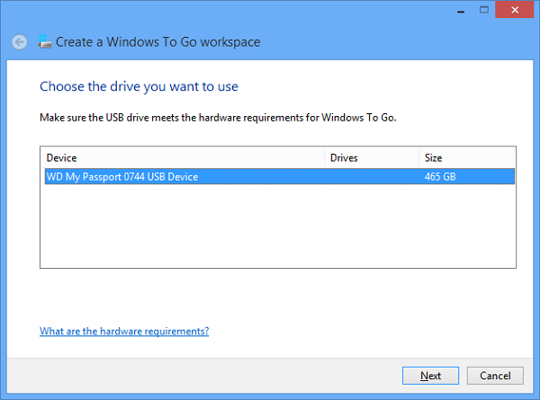 How to install Windows To Go on a Passport drive