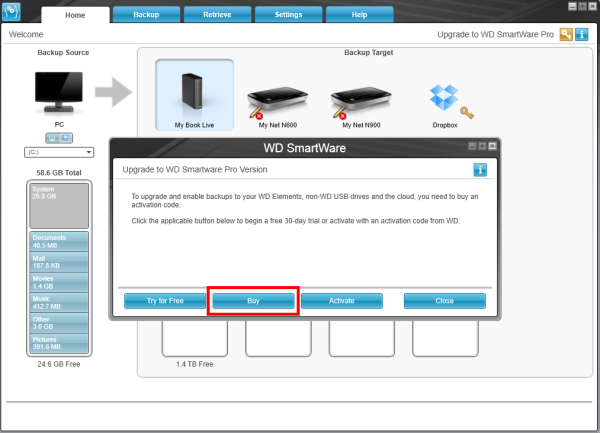 How to upgrade wd smartware to wd smartware pro wd support