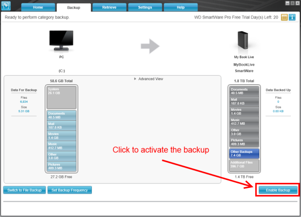 How to create a Scheduled Backup with WD SmartWare 2 0 or WD