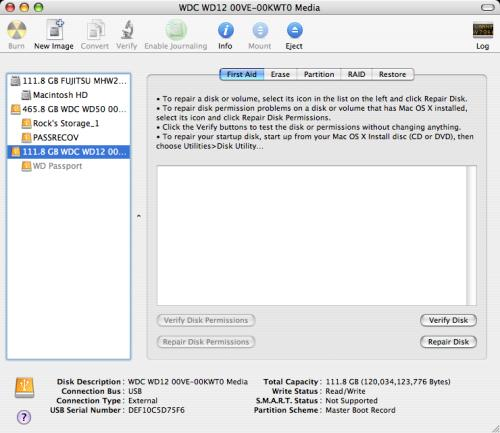 hitachi hard drive test mac