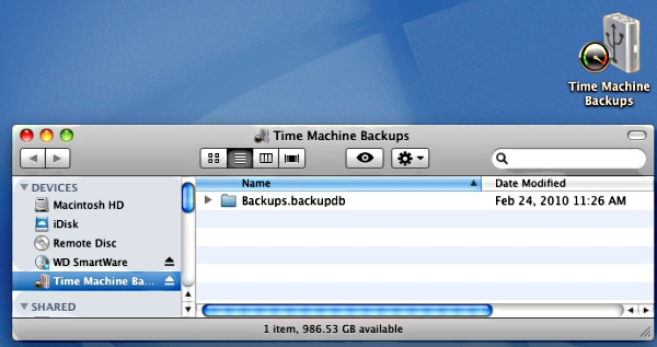 How to initiate a backup with Time Machine after a firmware upgrade